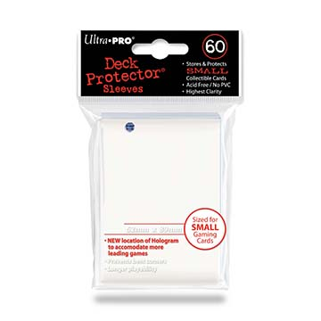 Small deck protector sleeves, white, 60ct - Ultra Pro
