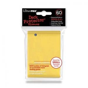 Small deck protector sleeves, yellow, 60ct - Ultra Pro