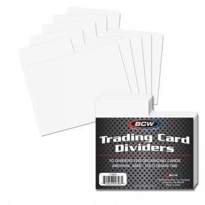 Trading Card Dividers - Horizontal - BCW