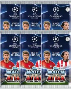 6 Packs Topps MA Champions League 2015-16