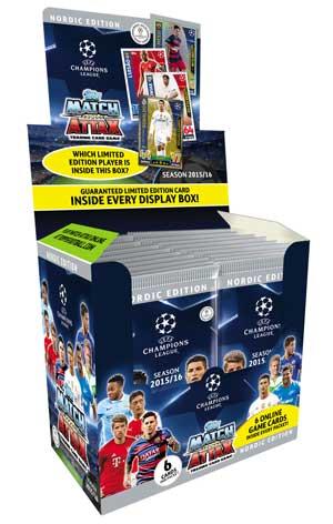 1 Full Box Nordic Edition Topps MA Champions League 2015-16