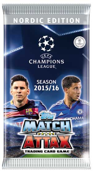 1 Pack Nordic Edition Topps MA Champions League 2015-16