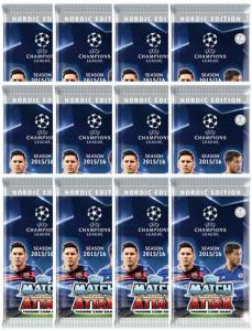 12 Packs Nordic Edition Topps MA Champions League 2015-16