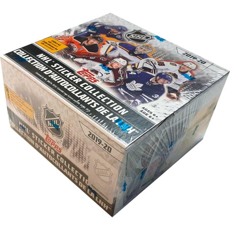 Hel Box 2019-20 Topps NHL Stickers (Klisterbilder) - Nordamerikansk utgåva