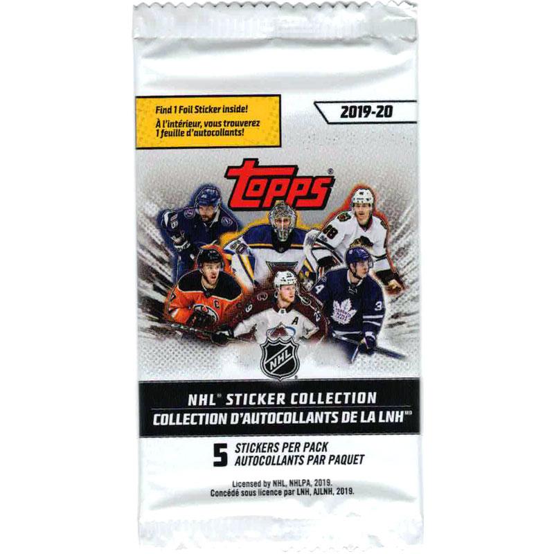 1 Paket 2019-20 Topps NHL Stickers (Klisterbilder) - Nordamerikansk utgåva