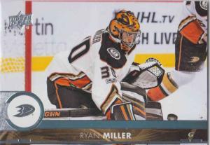 Ryan Miller - Anaheim Ducks 2017-2018 Upper Deck s2 #256