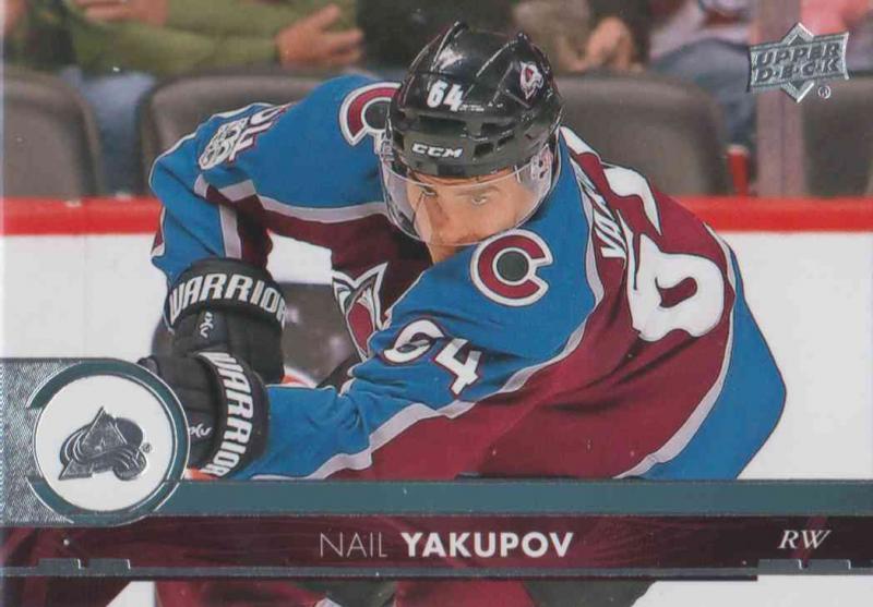 Nail Yakupov - Colorado Avalanche 2017-2018 Upper Deck s2 #295