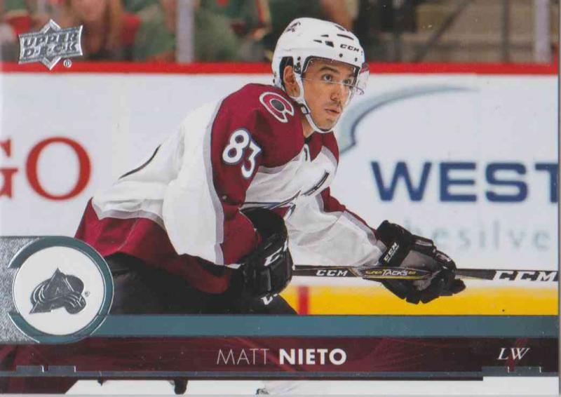 Matt Nieto - Colorado Avalanche 2017-2018 Upper Deck s2 #298