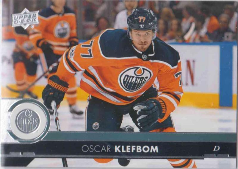 Oscar Klefbom - Edmonton Oilers 2017-2018 Upper Deck s2 #323