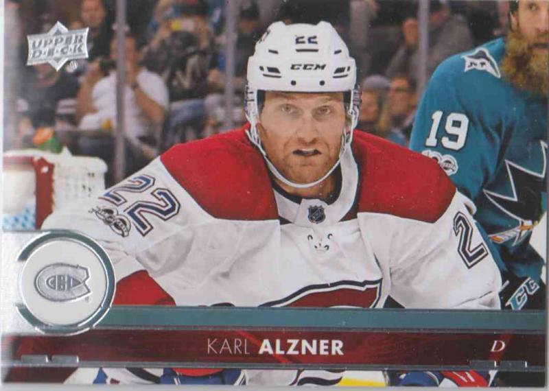 Karl Alzner - Montreal Canadiens 2017-2018 Upper Deck s2 #350