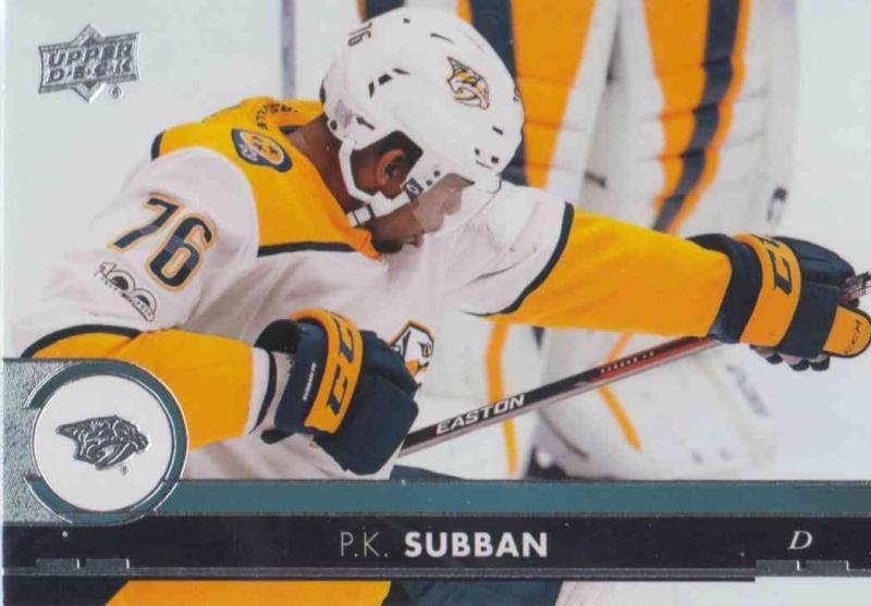 P.K. Subban - Nashville Predators 2017-2018 Upper Deck s2 #358
