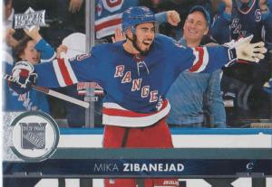 Mika Zibanejad - New York 2017-2018 Upper Deck s2 #373