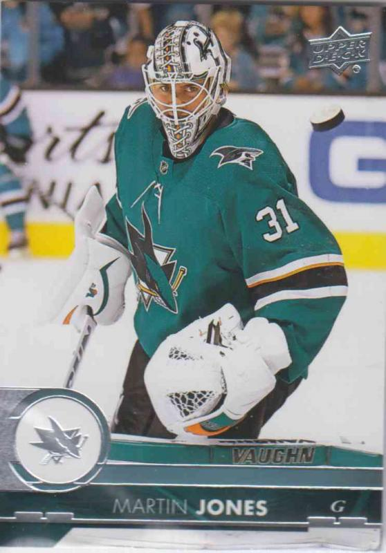 Martin Jones - San Jose 2017-2018 Upper Deck s2 #398