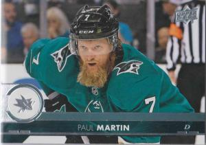 Paul Martin - San Jose 2017-2018 Upper Deck s2 #399