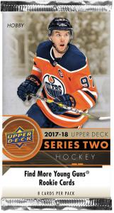 1 Pack 2017-18 Upper Deck Series 2 Hobby