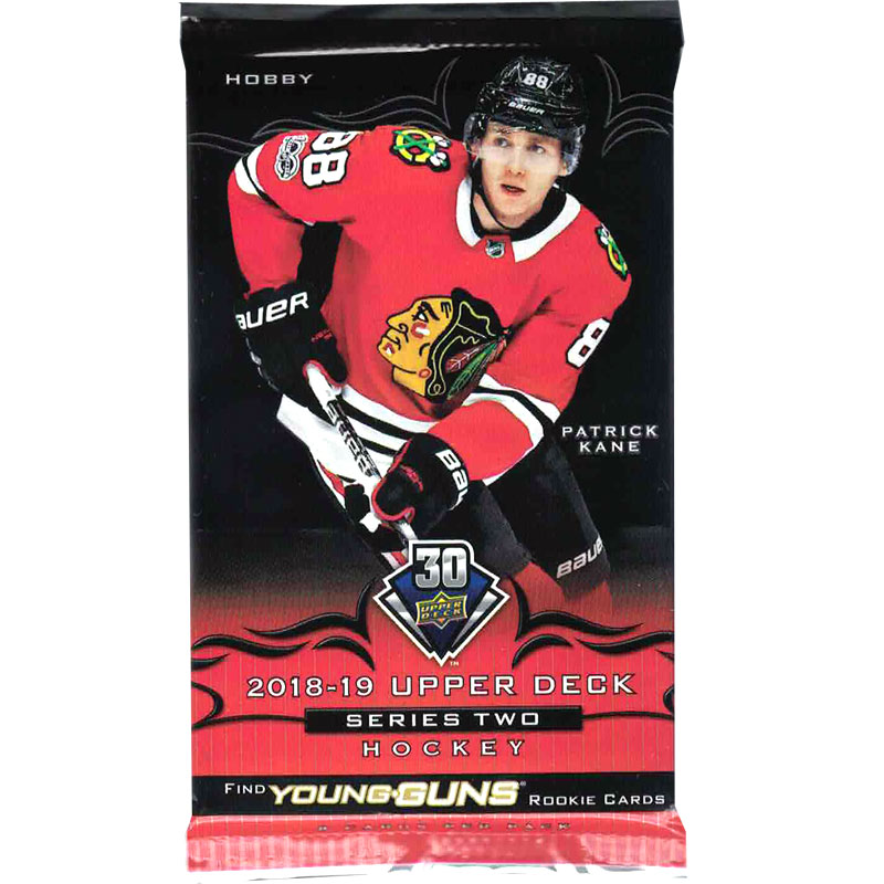 1 Pack 2018-19 Upper Deck Series 2 Hobby