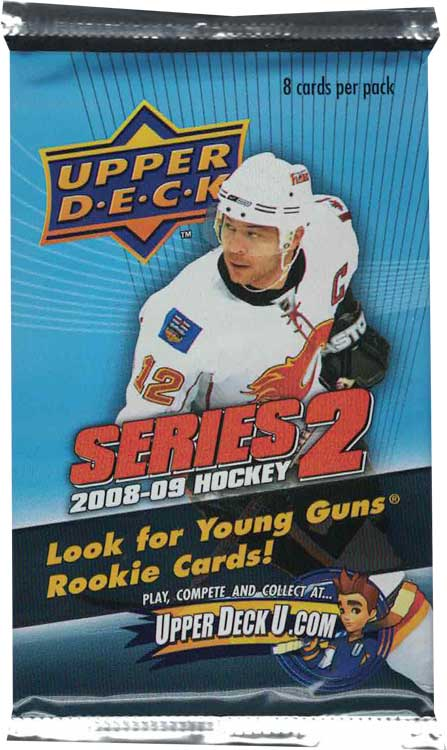 1 Pack 2008-09 Upper Deck s. 2 Retail