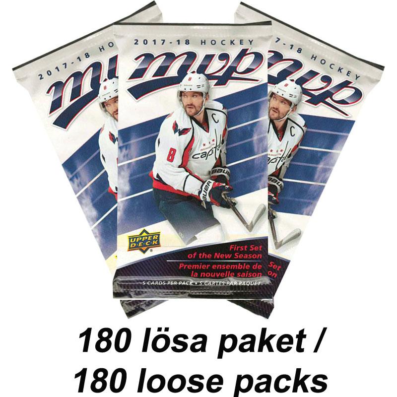 180 Packs 2017-18 Upper Deck MVP Retail