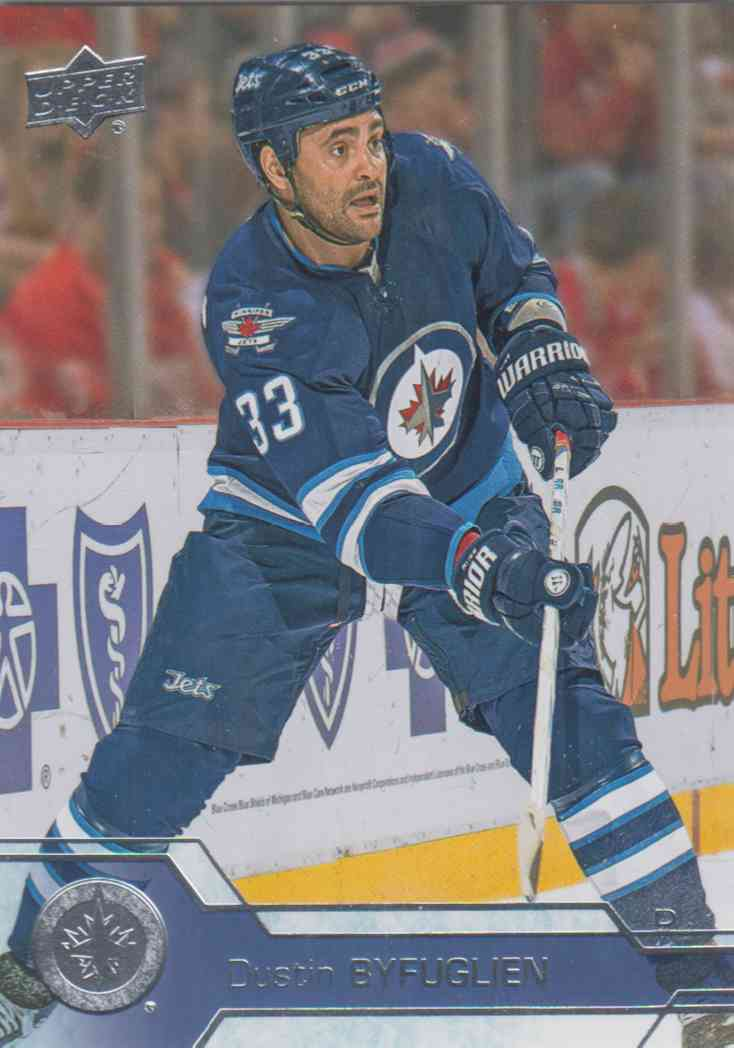 hot sale online 18e57 58ced Dustin Byfuglien - Winnipeg Jets 2016-2017 Upper Deck s.1 #195
