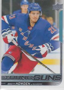 Brett Howden - New York Rangers 2018-2019 Upper Deck s.1 Young Guns RC #215