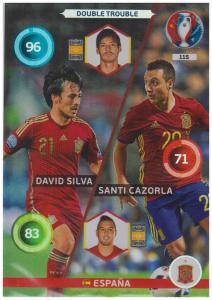 Adrenalyn XL UEFA Euro 2016, Double Trouble, #115, David Silva / Santi Cazorla
