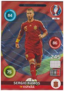 Adrenalyn XL UEFA Euro 2016, Defensive Rock, #116, Sergio Ramos