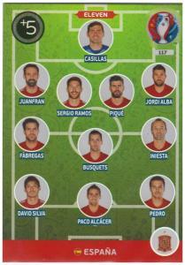 Adrenalyn XL UEFA Euro 2016, Eleven, #117, Espana