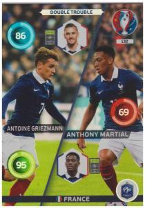 Adrenalyn XL UEFA Euro 2016, Double Trouble, #132, Antoine Griezmann / Anthony Martial