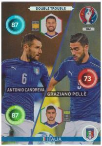 Adrenalyn XL UEFA Euro 2016, Double Trouble, #184, Antonio Candreva / Graziano Pelle