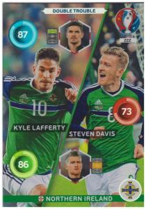 Adrenalyn XL UEFA Euro 2016, Double Trouble, #222, Steven Davis / Kyle Lafferty