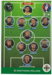 Adrenalyn XL UEFA Euro 2016, Eleven, #225, Northern Ireland
