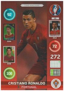 Adrenalyn XL UEFA Euro 2016, Time Machine, #23, Cristiano Ronaldo