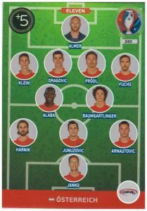 Adrenalyn XL UEFA Euro 2016, Eleven, #243, Österreich