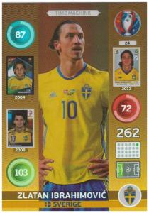 Adrenalyn XL UEFA Euro 2016, Time Machine, #24, Zlatan Ibrahimovic