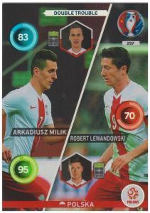 Adrenalyn XL UEFA Euro 2016, Double Trouble, #257, Arkadiusz Milik / Robert Lewandowski