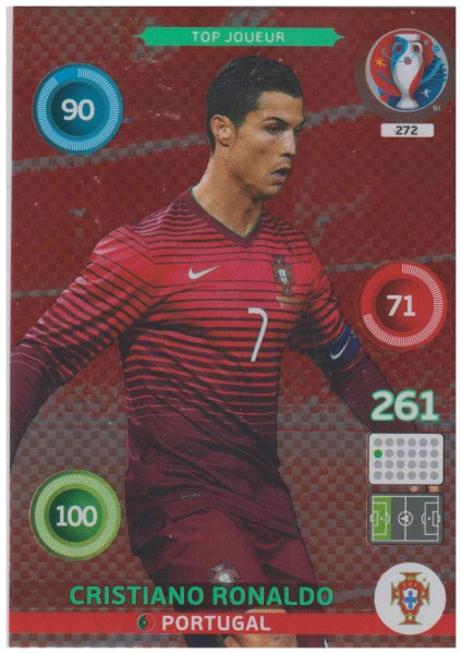 Adrenalyn XL UEFA Euro 2016, Top Joueur, #272, Cristiano Ronaldo