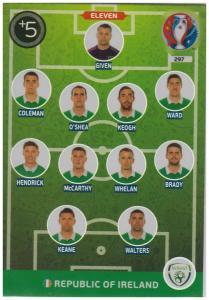 Adrenalyn XL UEFA Euro 2016, Eleven, #297, Republic of Ireland