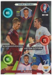 Adrenalyn XL UEFA Euro 2016, Double Trouble, #328, Aleksandr Kokorin / Artem Dzyuba