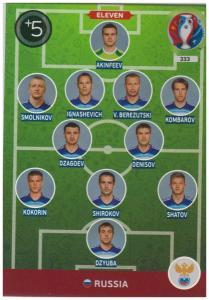 Adrenalyn XL UEFA Euro 2016, Eleven, #333, Russia