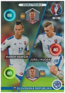 Adrenalyn XL UEFA Euro 2016, Double Trouble, #366, Marek Hamsik / Juraj Kucka
