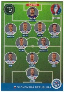 Adrenalyn XL UEFA Euro 2016, Eleven, #369, Slovenska Republika