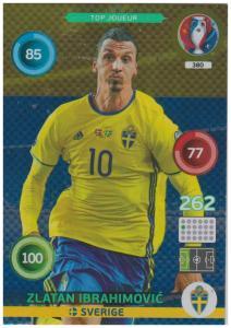 Adrenalyn XL UEFA Euro 2016, Top Joueur, #380, Zlatan Ibrahimovic