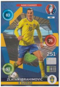 Adrenalyn XL UEFA Euro 2016, Game Changer, #382, Zlatan Ibrahimovic