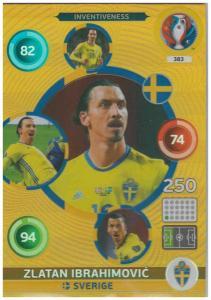 Adrenalyn XL UEFA Euro 2016, Inventiveness, #383, Zlatan Ibrahimovic