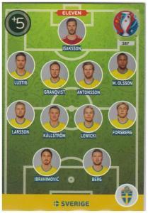 Adrenalyn XL UEFA Euro 2016, Eleven, #387, Sverige