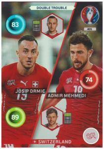 Adrenalyn XL UEFA Euro 2016, Double Trouble, #401, Josip Drmic / Admir Mehmedi