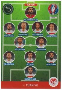 Adrenalyn XL UEFA Euro 2016, Eleven, #423, Turkiye