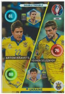 Adrenalyn XL UEFA Euro 2016, Double Trouble, #436, Yevhen Seleznyov / Artem Kravets
