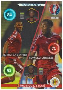 Adrenalyn XL UEFA Euro 2016, Double Trouble, #044, Romelu Lukaku / Christian Benteke