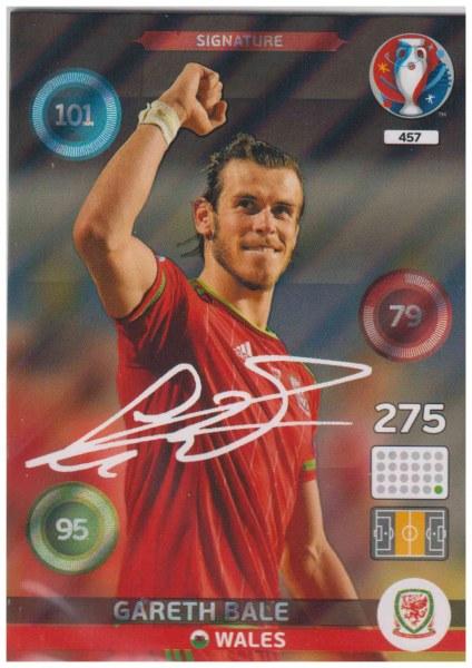 742e44836 Adrenalyn XL UEFA Euro 2016, Signature, #457, Gareth Bale